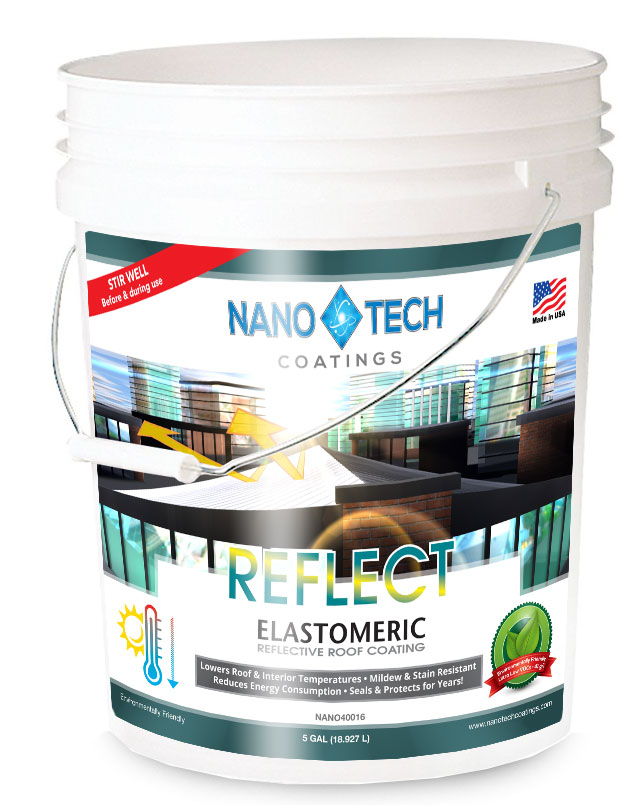 NanoTech REFLECT Elastomeric Roof Coating